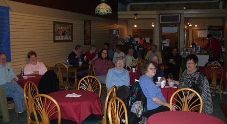 The audience at the Upper Room Coffeehouse in Sheboygan W